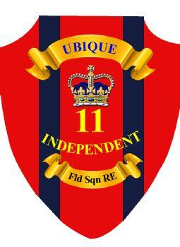 11 Ind Ubique RE  Plaque